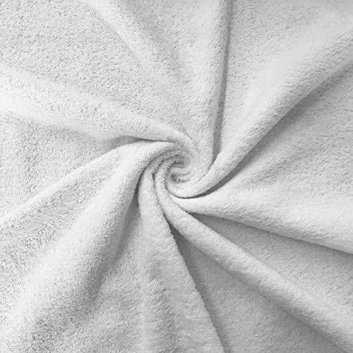Panini Tessuti Tessuto di Spugna di Cotone - Venduto al Mezzo Metro,Altezza Fissa 150 cm. 1 qtà = 50 cm; 2 qtà = 100 cm Ideale per confezionare Asciugamani, Bavaglini, Accappatoi, Teli Mare