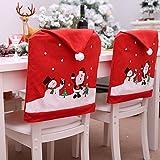 Cozyhoma - 6 fundas de Navidad para respaldo de silla con go