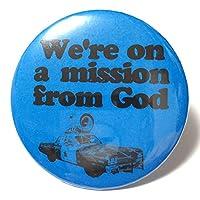 デカ缶バッジ 5.7cm Blues Brothers ブルースブラザーズ We 're On a Mission From God アレサフランクリン