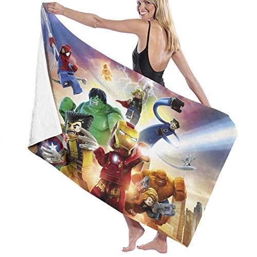 Ma-Rvel Super Hero schnell trocknende Strandtuchreise Mikrofaser-Badetuchdecke Super saugfähig Leichtes Handtuch für Strandpool Spa Schwimmen Wandern und Heimgebrauch Übergroße 80*130cm