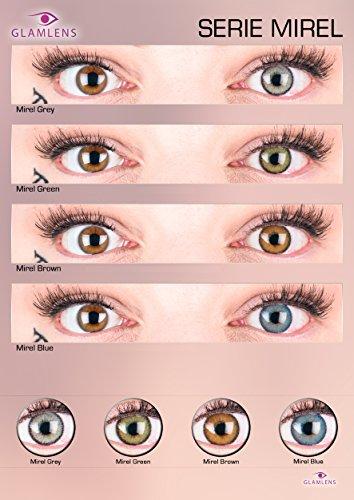 """Sehr stark deckende und natürliche graue Kontaktlinsen SILIKON COMFORT NEUHEIT farbig """"Mirel Grey"""" + Behälter von GLAMLENS – 1 Paar (2 Stück) – DIA 14.00 – ohne Stärke 0.00 Dioptrien - 2"""