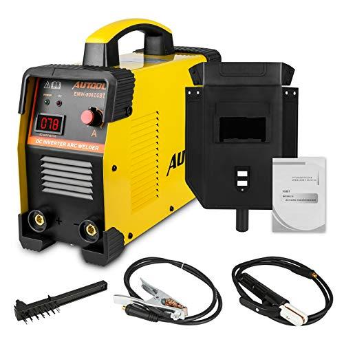 Schweißgerät Inverter Set ARC 160A, AUTOOL Schweißgerät Lichtbogen Elektroden IGBT Welder Stick mit Aktueller Anzeige Unterstützung 1/8 Zoll Schweißstab, Tragbar, 110V-240V EU Stecker