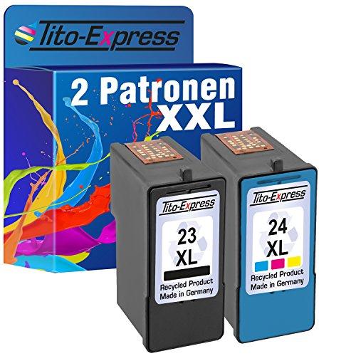 Tito-Express PlatinumSerie Set Druckerpatrone für Lexmark 23 XL & 24 XL Z1410 X3530 X3550 X4500