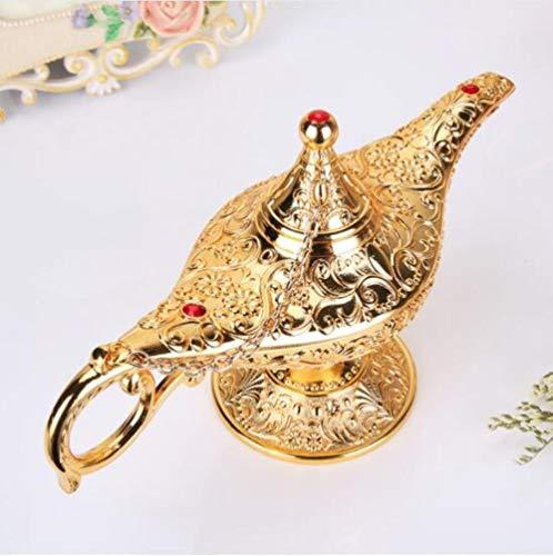 Vintage metalen Aladdin's magische lamp beeldjes tin legering retro theepot lamp miniaturen kinderen kerst speelgoed geschenken decoratie ambachten, 1