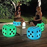 Magshion 16 Color Changing LED Light Up Furniture Chair Cube Ball Night Light Bar Stool Serving Tray Bucket Pot (Dice)