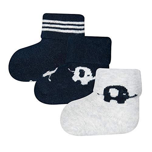 Ewers GOTS ORGANIC 3er Pack Newborn Babysocken für Mädchen und Jungen, MADE IN EUROPE, Bio-Baumwolle Baby Socken Erstling