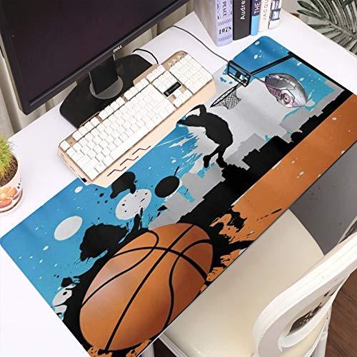 FAQIMEI Alfombrilla Gaming para PC Jugador de Pelota de Baloncesto, Máxima Precisión con Cualquier Ratón, Base de Caucho Natural, Máxima Comodidad