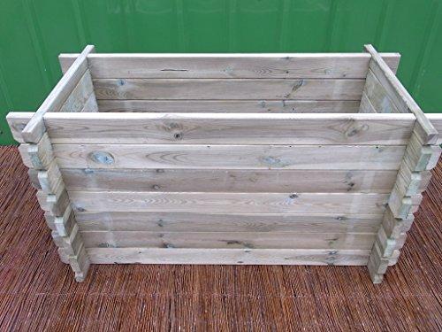 BIHL stabiles Hoochbeet Komposter Kompostbehälter Hochbeet 120 x 60 x 61 cm 28mm