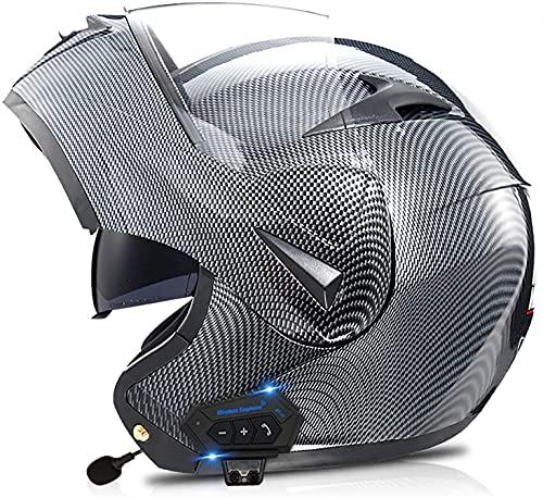 Cascos Bluetooth Modulares Abatibles Doble Visor Para Motocicleta, Casco Aprobado DOT/ECE, Sistema De Comunicación Integrado Con Radio FM MP3 Incorporadamotorcycle 5,S
