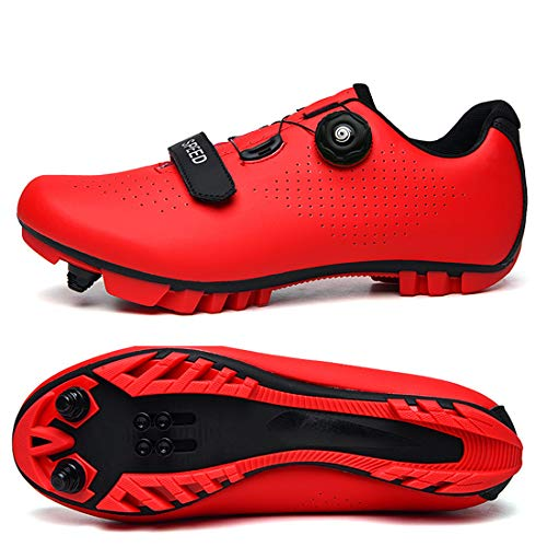 Cool-CZQ Fahrradschuhe Neutrale Rennradschuhe (36,rot)