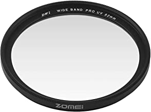 FairytaleMM Zomei 40 5 49 52 55 58 62 67 72 77 82mm Standard Frame Camera Filter Lens Protecting Filter For Sony Black 52mm