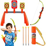 Liberty Imports Archery Shooting Set for Kids With 3 Targets and Quiver