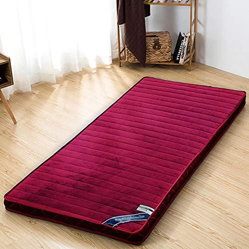 MM-CDZ flanel slaapkamer-attami, dik gewatteerd, traditioneel, Japanse futon, opvouwbaar, voor studenten, slaapzaal, matras, kussen voor bed, topper, slaap, koelbox, matras