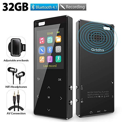 MP3 Player 32GB with Bluetooth 4.2, Hi-Fi Lossless Music Player with FM...