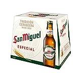 San Miguel Especial Cerveza Dorada Lager - Pack de 12 Botellas x 25 cl, 5,4% Volumen de Alcohol