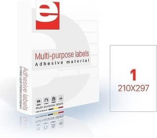 /Juego de 65/etiquetas 500/hojas//caja A4/38,1/x 21,2/mm etilaser 30900065/