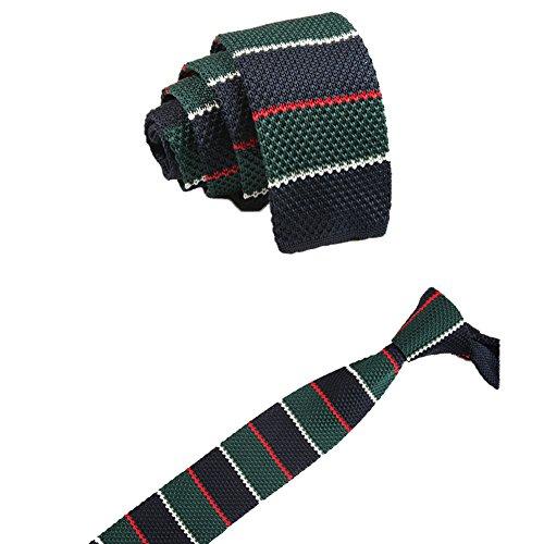 Cdet Corbata de Punto Corbata de Punto Tejida Elegante Vintage de poliéster patrón Raya patrón para Hombres,Estilo 4
