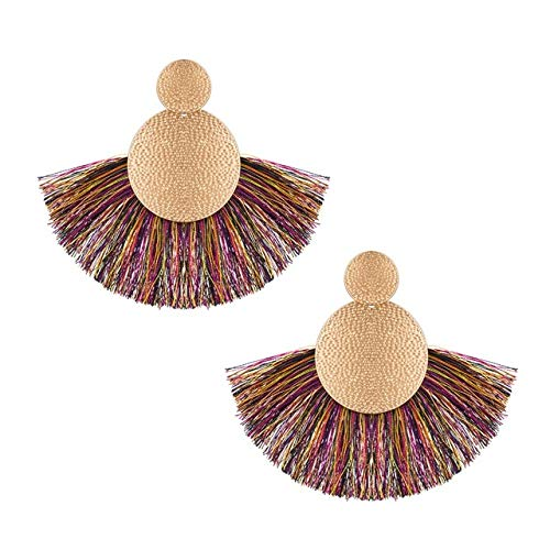 Ohrringe Rote Lange Quaste Ohrringe Vintage Ethnic Fransen Ohrring Für Frauen Mode Hängende OhrringeE577-6