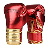 LASTSTAND Boxing Gloves for Women Kids, Punching Bag Gloves for Kickboxing, Sparring, Muay Thai,MMA,UFC (RED, 10OZ)