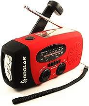 BROLAR - Survival Radio, Solar Hand Crank - NOAA Weather Radio, Emergency LED Flashlight, Smart Phone Charger Power Bank