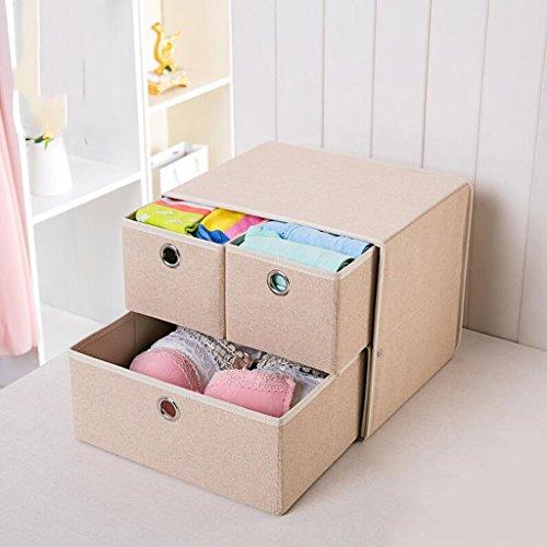 Xuan - Worth Another Kaki sous-vêtements boîte de Rangement de tiroir de boîte de Rangement de tiroir (31.5 * 26.5 * 26.5)
