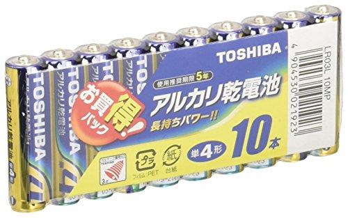 東芝 アルカリ乾電池 単4 10個