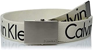 Calvin Klein Men's 38mm Printed Web Belt with Logo