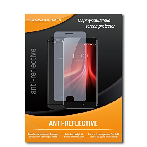 SWIDO Schutzfolie für UMIDIGI Z1 Pro [2 Stück] Anti-Reflex MATT Entspiegelnd, Hoher Härtegrad, Schutz vor Kratzer/Bildschirmschutz, Bildschirmschutzfolie, Panzerglas-Folie