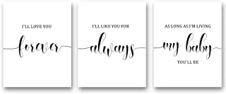 """XUN Inspirational Quote Art Print-Typography Love Saying Canvas Wall Art-(8""""X10""""X3 Pieces, Unframed)-Perfect for Kids Bedroom Decoration"""