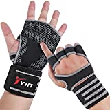 YHT Workout Gloves Weightlifting Widened Elasticity Wristband Training Fitness Gloves with Wrist Wearable Elastic Palm Support for ,Gym , & Exercise Padding Men & Women