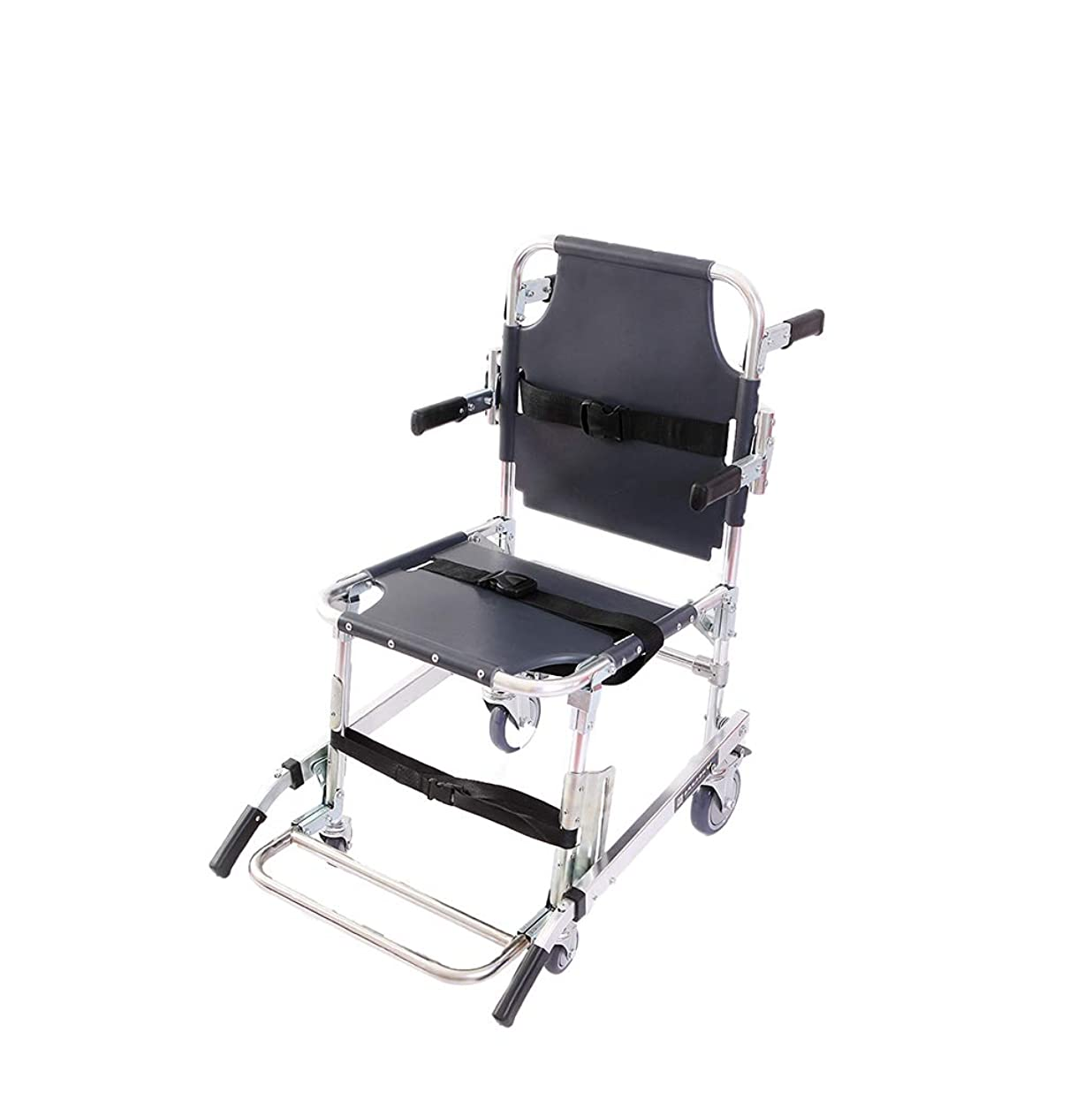 ニッケルディレイご近所階段椅子、アルミニウムの軽量2ホイールクイックリリースバックル、350ポンド容量のリフト付き医療輸送椅子