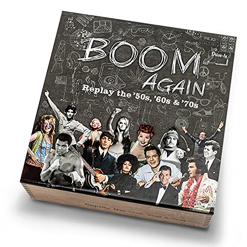 Boom Again Board Game - Boomer Trivia Game About The '50s, '60s and '70s