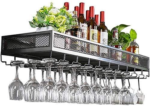 LXDZXY Botelleros, Botelleros para Vino Soporte de Pared Metal Vintage | Soporte para Botella de Vino de Pie | Soporte para Copa de Vino Colgante | Soporte de Vino Rústico Enfriador de Vino Montado e