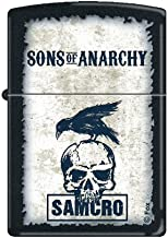Zippo Lighter - Sons of Anarchy SAMCRO with Crow Black Matte