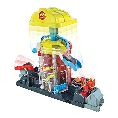 Hot Wheels City Super City Fire House Rescue Play Set Themed Play Set Connection System Ages 3 Years to 8