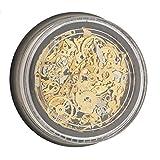 3D Gold Metall Nagelkunst Nagelsticker DIY Nailart UV Gel Nagellack Aufkleber Nagelschmuck Nagel Tipps Dekorationen - Zahnrad