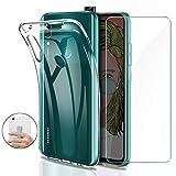 Younme Cover per Huawei P Smart Z Custodia, Trasparente Custodia Sottile Silicone TPU Case +...