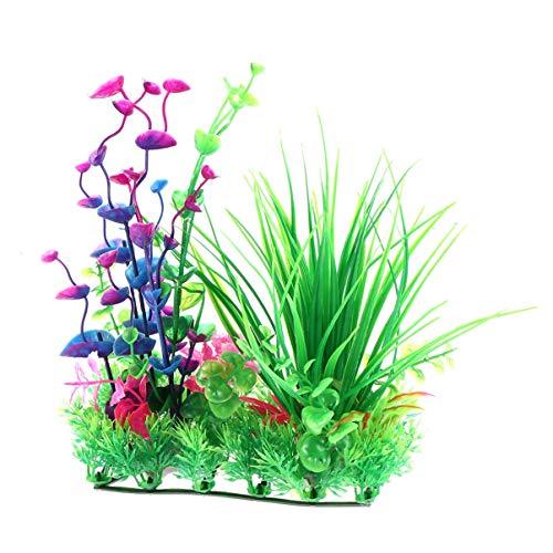 ZHTY Kunststoff gefälschte Wasserpflanzen Emulational langlebige Kunststoff lebensechte Reis Modell gefälschte Wasserpflanzen für Aquarium Dekoration Aquarium