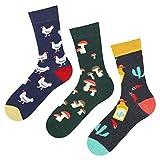 soxo Herren Bunte Muster Socken | Größe 40-45 | Motivsocken aus Baumwolle | Lustige Geschenk für Männer