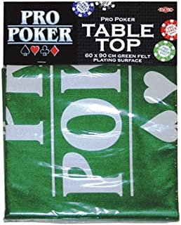 Tactic Games UK Pro Poker Table Top Green Felt Playing Surface by