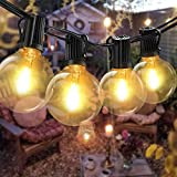 Guirnaldas luminosas de exterior, Bomcosy G40 Cadena de Luces 7.6m con 12+1 led Bombilla Guirnalda Luces IP45 Impermeable Luces Exterior de patio,Garden Terrace Luces de patio