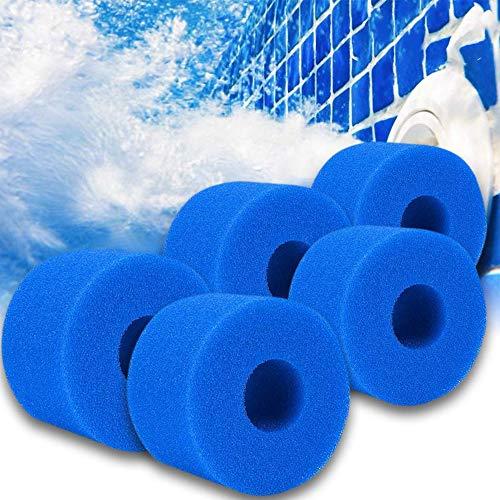 Filterkartuschen Schwamm Typ S1, für Intex Typ S1 Filter Whirlpool Filter Lazy Spa Filter Schwimmbad Schwamm, Filter Wiederverwendbare waschbare Ersatzkartusche (5Stück)