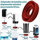MovilCom - Adaptador de Botella para dispensador de Agua Eléctrico Compatible con Botellas 5, 6, 8, 10, 12 litros | para Botellas o adaptadores con diámetro 37mm (37mm)