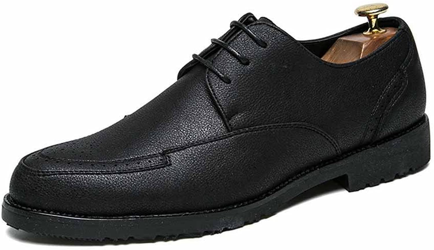 GLSHI Men Fashion Business Derby New Seasons Simple Casual Dress Leather shoes