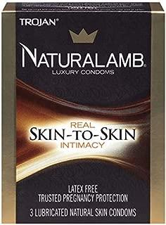 Trojan Naturalamb Natural Skin Lubricated Luxury Condoms - 3 ct, Pack of 5