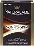 Trojan Naturalamb Natural Skin Lubricated Luxury Condoms - 3 ct, Pack of 5