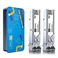 SFP Transceiver Multimode Gigabit Mini-GBIC Module 1000Base-SX Compatible for Netgear AGM731F(MMF, 850nm, 550m, Dual LC,DOM), 2 Pack