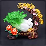 Home Accessories Citrine Reiki Stone Fortune Artist Green Jade Cabbage Money Tree Decoration Office Home TV Cabinet Opening Housewarming Gift Decorative Accessories/Sculptures 1117 (Size : B)