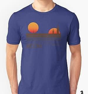 Camisa Camiseta Masculino Algodão Premium Star Wars Tatooine Desenho impresso:Star Wars/Cinza-claro;Tamanho:M