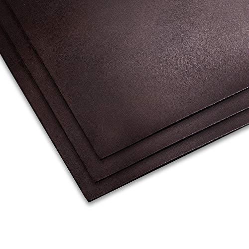 【3枚セット】チョコ オイル ヌメ革 姫路レザー A4 1.5mm 革 ヌメ はぎれ レザークラフト 材料 国産 タンニン鞣し